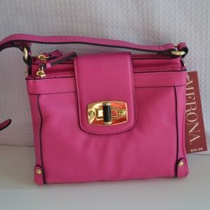 MERONA Mini Fold-over Crossbody Bag Purse Pink NWT